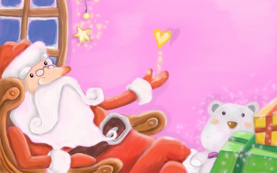 Fondo Santa Claus Infantil