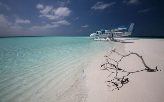 Hidroavión en la Playa