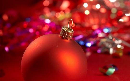 Adornos de Navidad Fondo Pantalla