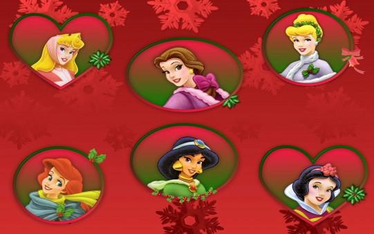 Princesas Disney en Marcos de Navidad