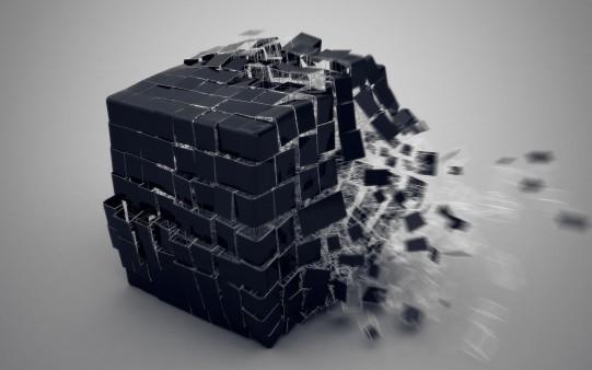 Cubo Negro Minimalista
