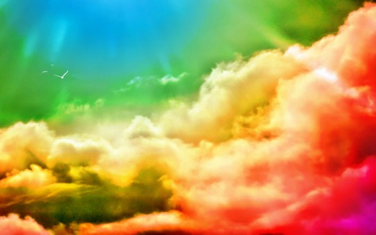 Wallpaper Nubes de Colores