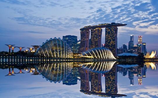 Singapur al Anochecer.