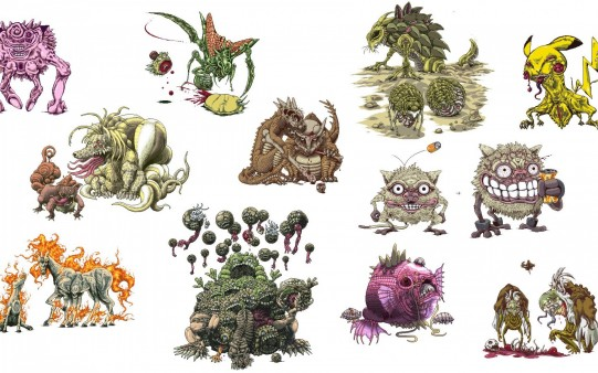 Monstruos Pokemon.