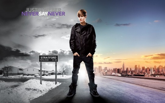Never Say Never Justin Bieber.