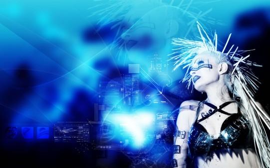 Chica Cyberpunk Fondo.