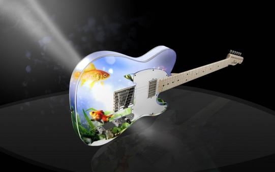 Guitarra muy original.