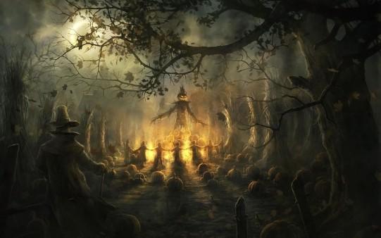 Aquelarre de Calabazas en Halloween