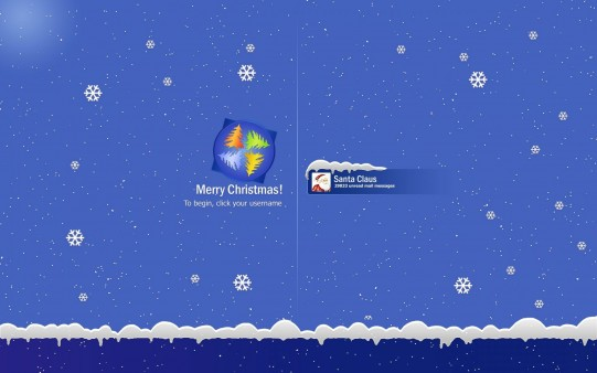Protector de Pantalla Windows Santa Claus