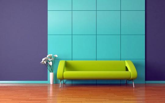 Wallpaper sofá de diseño Verde