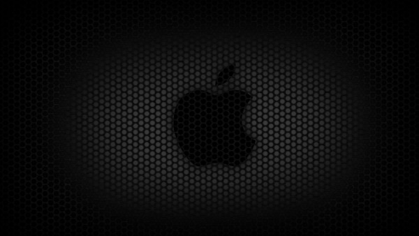 Fondo Apple Reticular Negro