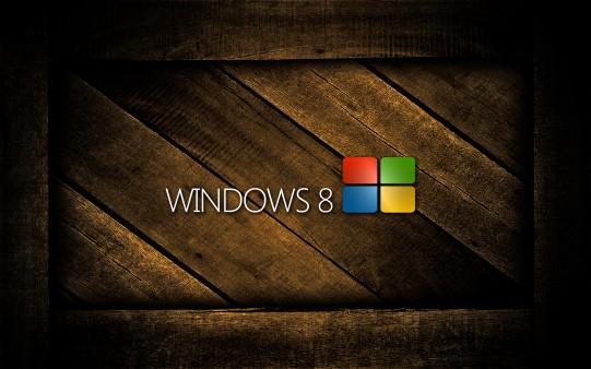 Fondo de Pantalla Windows 8 en Cajón de Madera