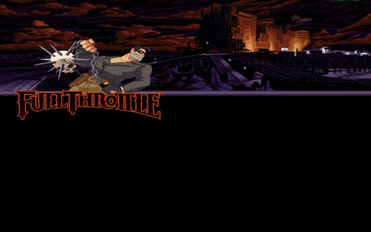 Fondo de Pantalla Retro Juego Full Throttle