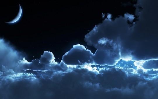 Noche con Cielo Nublado