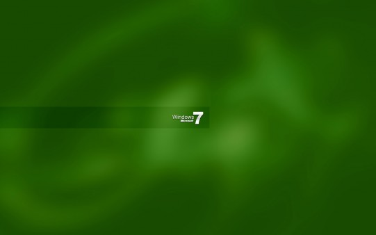 Fondo de Windows 7 en Verde