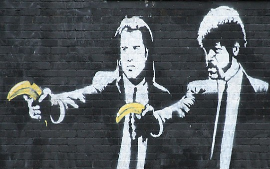 Fondo Pantalla Banksy. Pulp Fiction