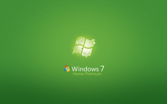 Fondo de Windows 7 Verde