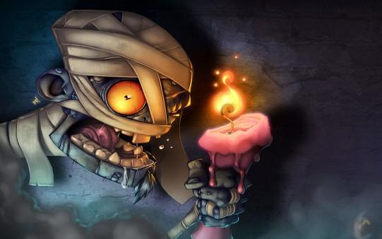 Momia de Halloween