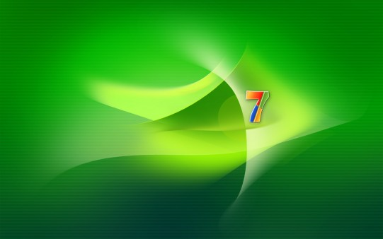 Fondo de Pantalla Verde de Windows 7
