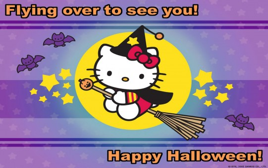 Fondos de Halloween. Hello Kitty