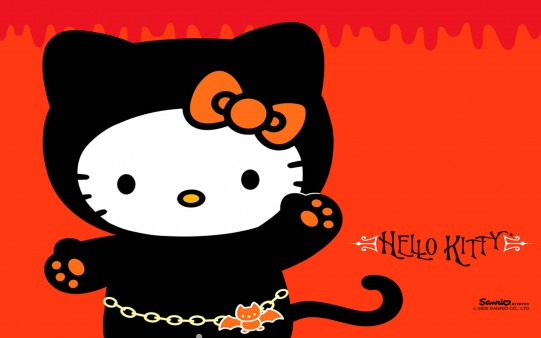 Hello Kitty Halloween Desktop